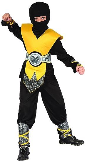 Disfraz ninja amarillo niño - 4 - 6 años: Amazon.es ...