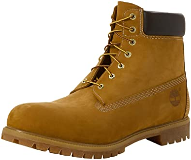 d215b405c574a Timberland 6 inch Premium Waterproof, Bottes   Bottines Classiques Homme  Jaune (Wheat Nubuck 713