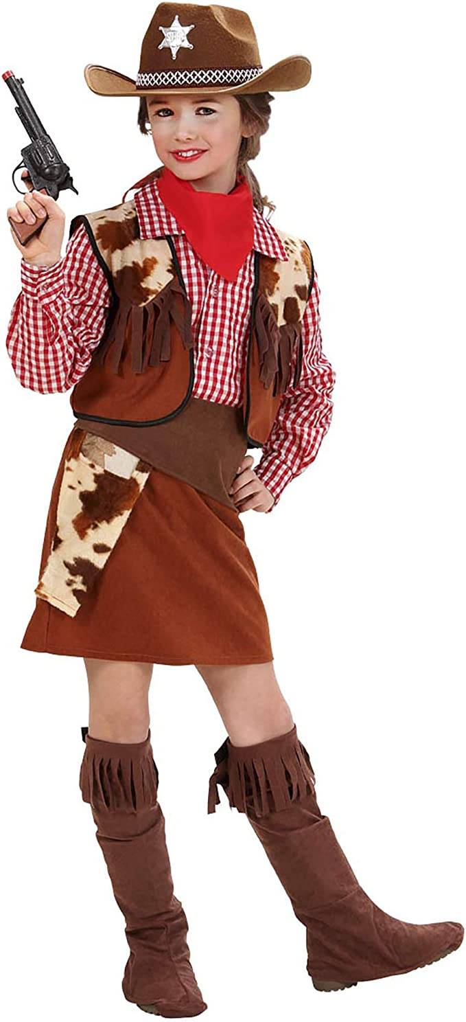 WIDMANN Widman - Disfraz de vaquera para niña, talla 13 años ...