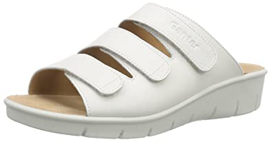 Ganter AKTIV FABIA Weite F Damen Pantoletten, Weiß (weiss 0200), 37 EU (4 UK)