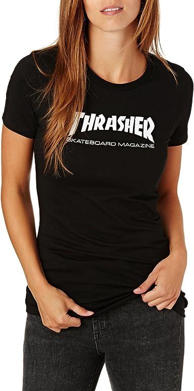 CAMISA THRASHER WO SKATE MAG BLACK - L