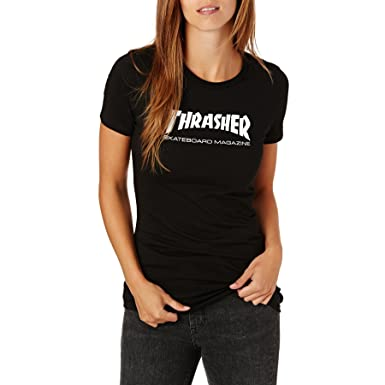 T-Shirt Women Thrasher Skate Mag T-Shirt  Thrasher  Amazon.co.uk ... 0ba935d80
