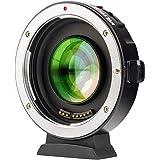 VILTROX EF-M2Ⅱ(二代目) 0.71 X スピードブースター AF キャノン Canon EFレンズ→マイクロフォーサーズ変換 マウントアダプター パナソニック GH/GXシリーズ オリンパス M43カメラに対応 絞り制御 手振れ補正 GH5 GH4 GF1 GX85 E-M5 E-M10 E-M10II E-PL3 PEN-F BMPCC