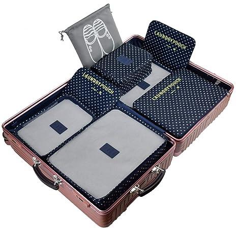 Amazon.com: 7 pieza Cubos de embalaje de viaje equipaje ...