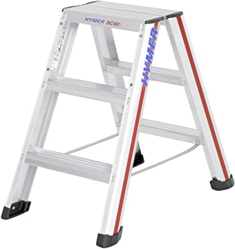 Hymer 602406 SC 60 - Escalera de mano (aluminio, 6 peldaños x 2): Amazon.es: Bricolaje y herramientas