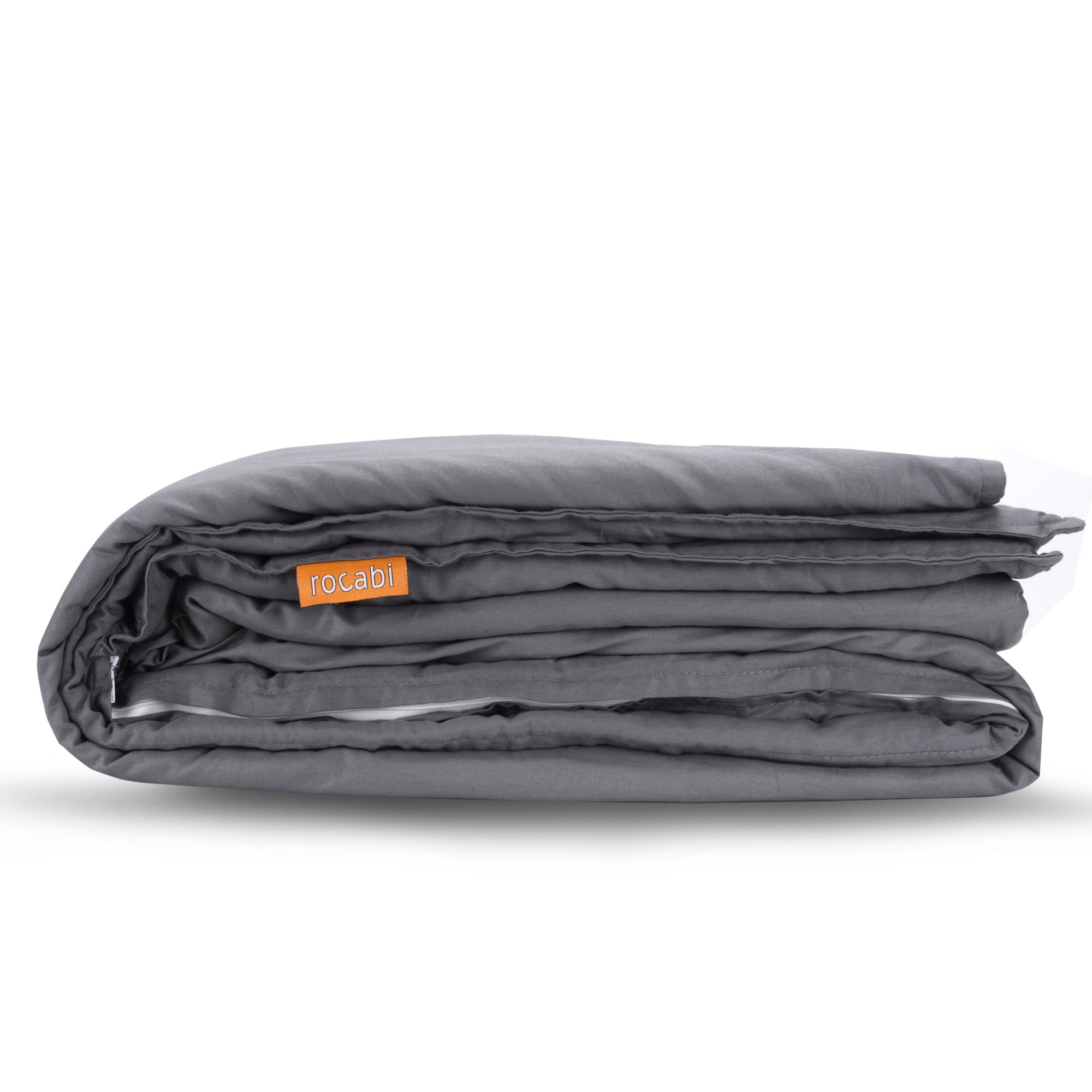 rocabi (Grey Cotton 80''x86'') Cotton Cover Only for Weighted Blanket