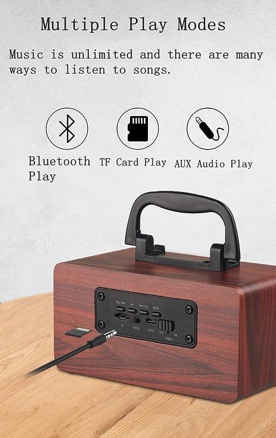 HZK Altavoz Bluetooth con Graves mejorados y Sonido de Alta ...