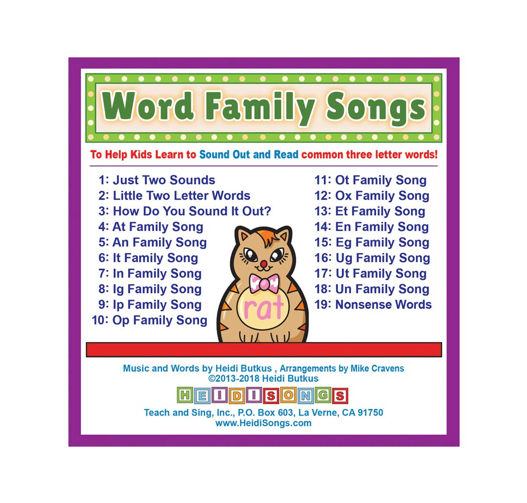 Amazon.com: Sound Blending Songs for Word Families CD: Music