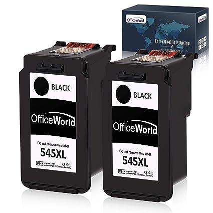 OfficeWorld Reemplazo para cartuchos de tinta para Canon PG ...