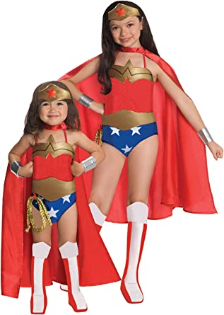 Wonder Woman Deluxe Cape Costume for Kids