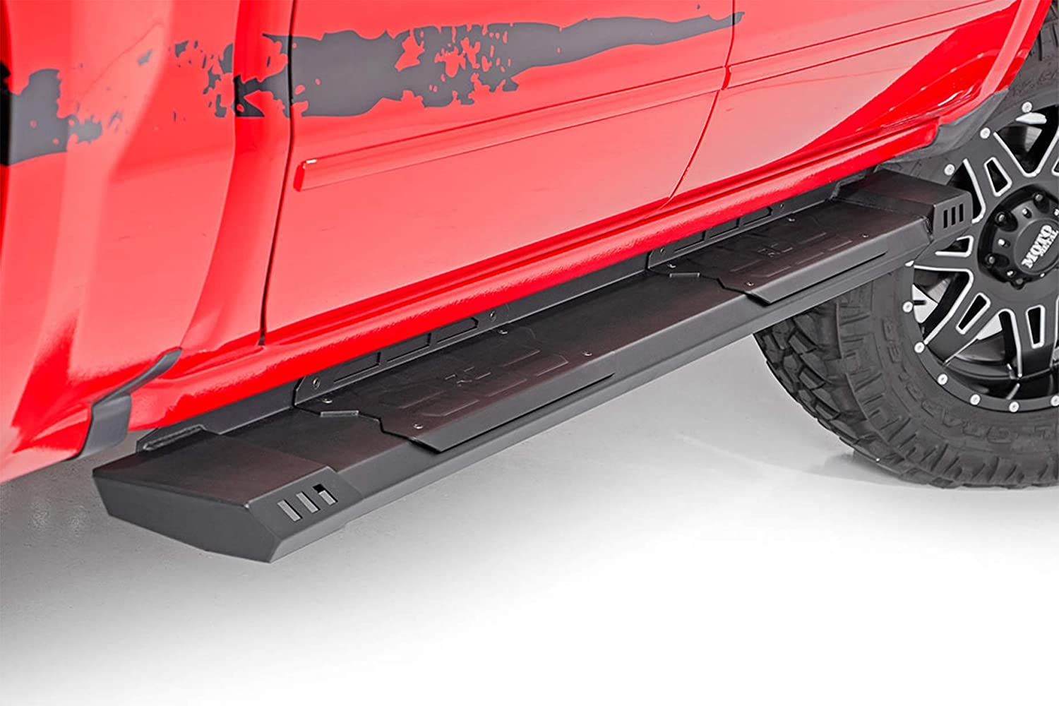 SuperCrew 5.5 FT Bed w//Bed Step RCF1596CC-6 F-150 fits Rough Country W2W Nerf Bar Hoop Steps 2015-2019 F150