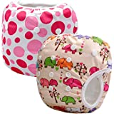 Storeofbaby 2pcs Reusable Baby Swim Diapers (Pack of 2)