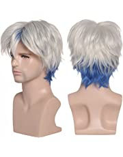 ColorGround Short Silver and Blue Cosplay Wig