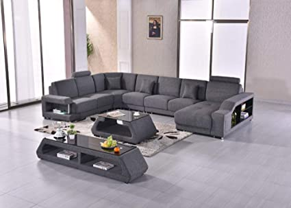 Amazon.com: My Aashis Fabric Modern Sofa Set Armchair ...