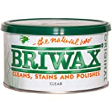 Briwax (Clear) Furniture Wax Polish, Cleans, and Stains
