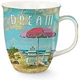 Living the Dream at Beach 16 Oz Coffee Latte Tea Harbor Mug Cape Shore