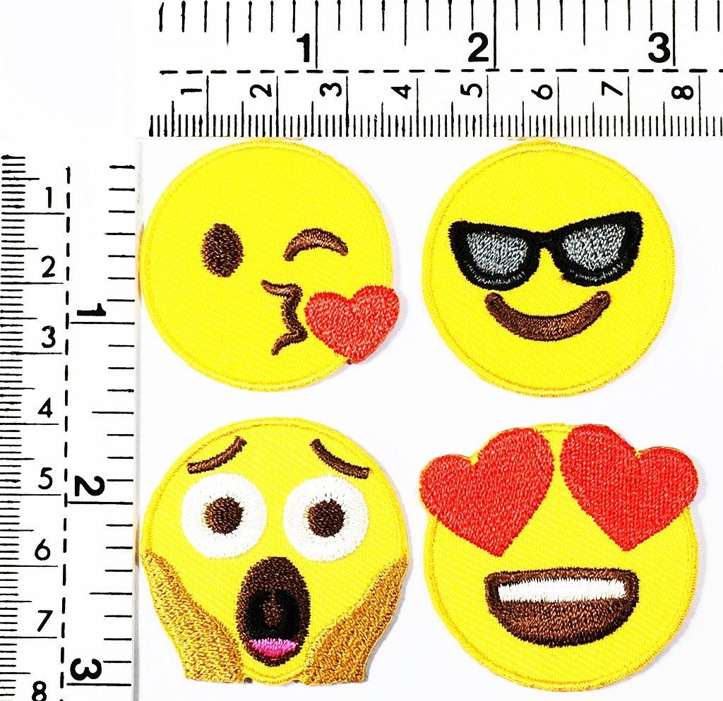 Amazon.com: Juego de 4 gafas de sol con diseño de emoticonos ...