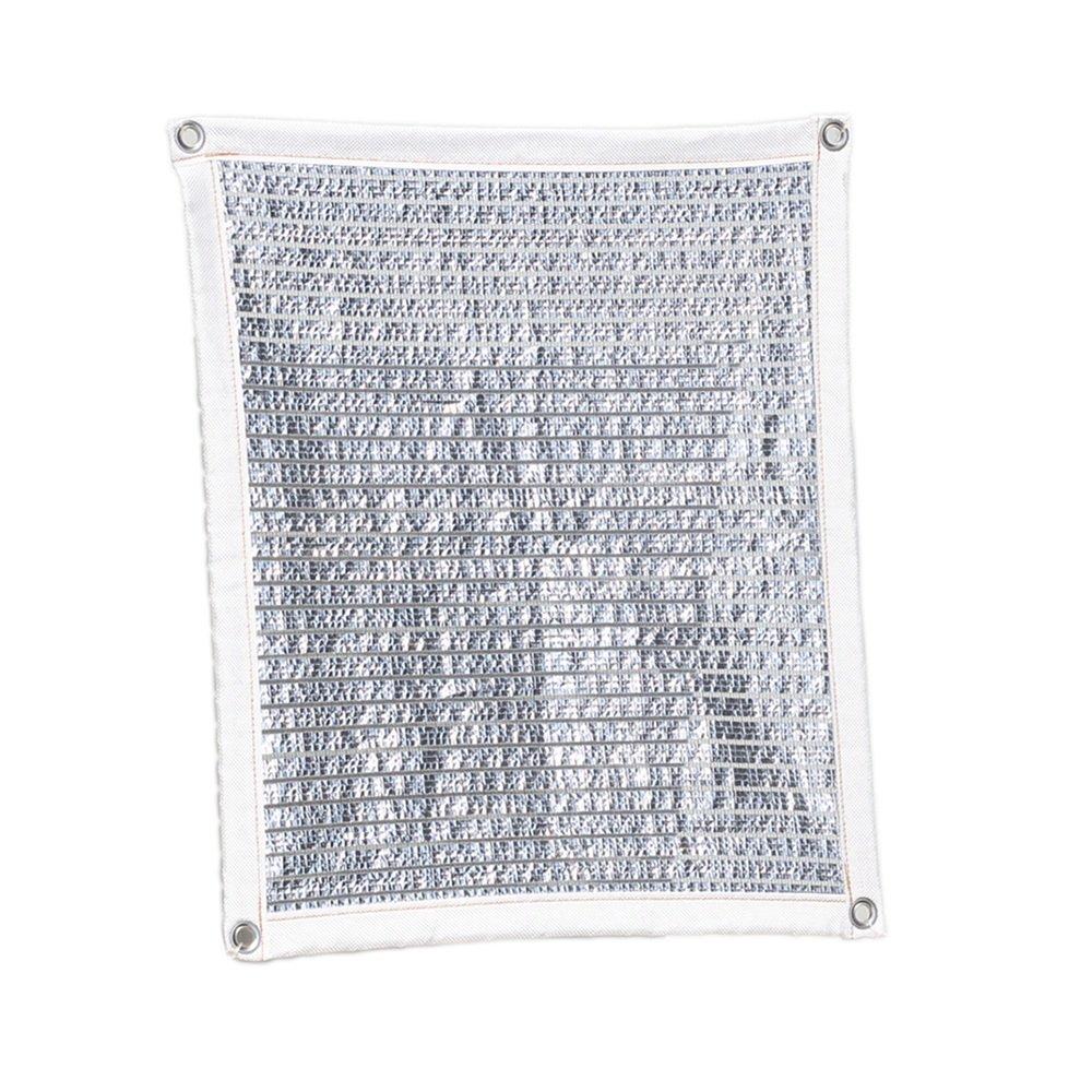 LQQFF Sonnenschutznetz, Sonnenraumaluminiumfolie, die Sonnenschutzbalkon-GartenBlaumengrün-Betriebsisolierungsnetz abkühlt Tragbarer Sonnenschirm