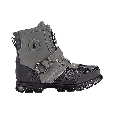 74e56c62632 Polo Ralph Lauren Conquest Hi III Boot Men's Workboots Grey Nubuck  812741874-001