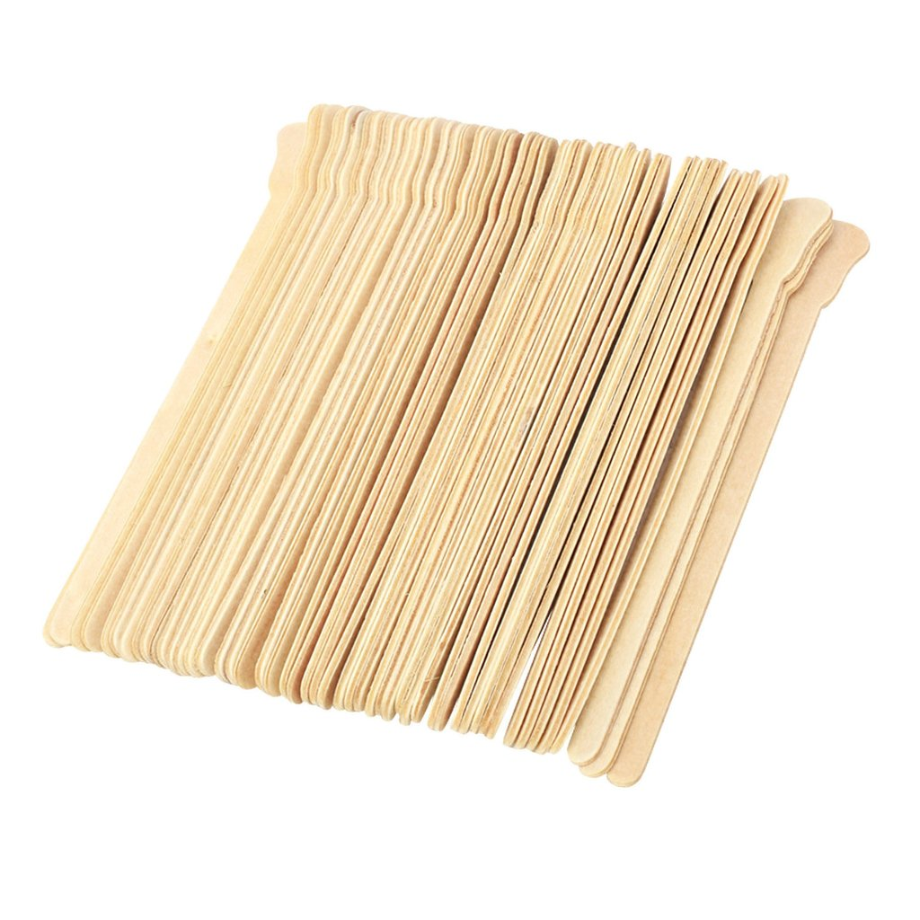 Baosity 100 Pieces Wooden Waxing Applicators Sticks for Face & Eyebrows Wax Spatula Hair Removal