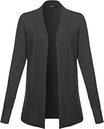 Women's Solid Soft Stretch Open Front Knit Cardigan