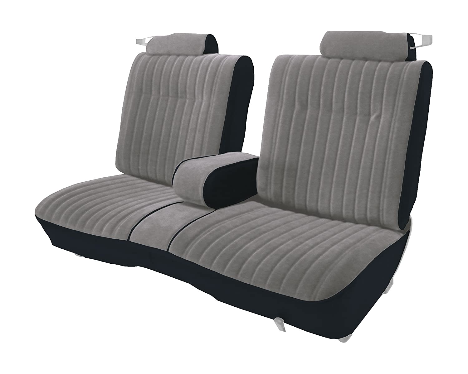 Acme U207-898L Front Silver Velour with Black Vinyl Bench Seat Upholstery