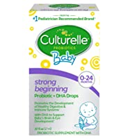 Culturelle Baby Strong Beginning Probiotic + DHA Drops | Promotes Development of Healthy Immune & Digestive Systems | Supports Brain & Eye Development | 0.57 fl oz (17 ml)