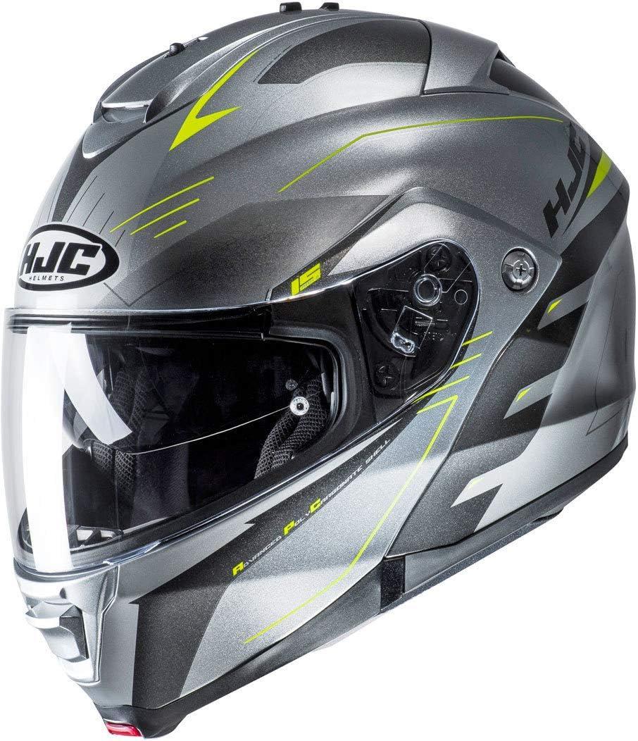 HJC IS-33 II KORBA Motorrad Jethelm grau schwarz silber 2XL