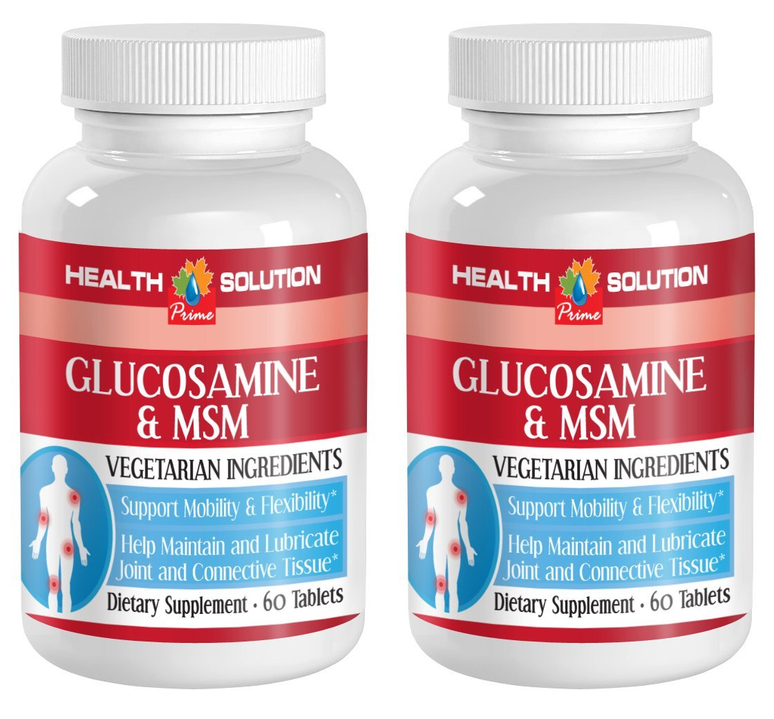 Msm supplement for hair - GLUCOSAMINE AND MSM - improve joint mobility (2 bottles) by Health Solution Prime