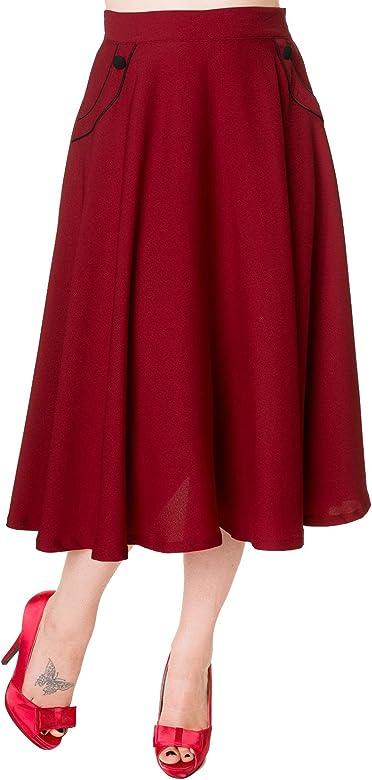 Banned Apparel - Falda - para Mujer borgoña XS: Amazon.es: Ropa y ...