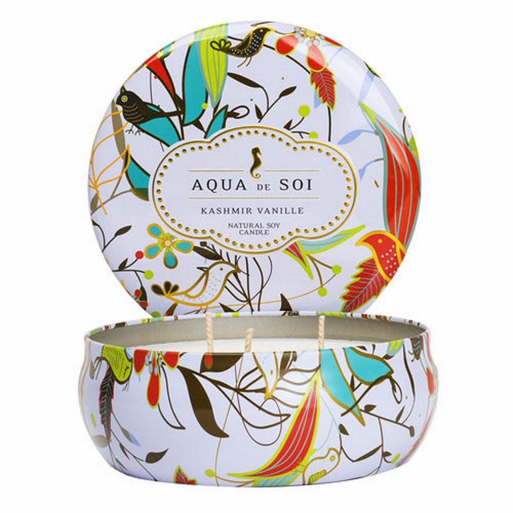 SOI Company Aqua de SOi 100% Premium Natural Soy Candle, Triple Wick, 21 Ounces (Kashmir Vanille)