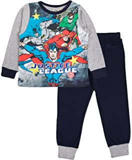 Boys Official Character DC Comics Justice League Pyjama Pjs 3-10 Years