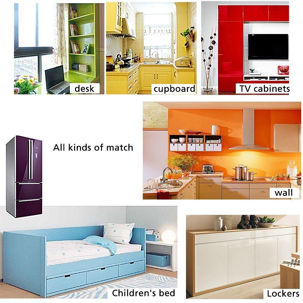 WTD - Papel pintado autoadhesivo para pared, diseño de muebles, azul: Amazon.es: Bricolaje y herramientas