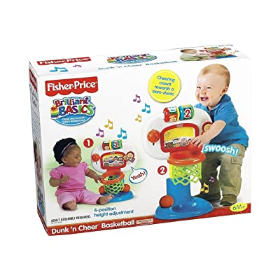 Fisher-Price Brilliant Basics Dunk 'n Cheer Basketball: Toys & Games