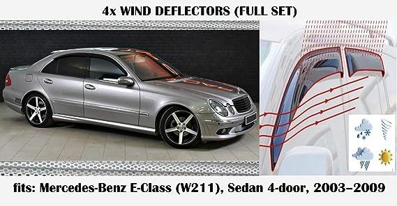 Mrp Windabweiser Kompatibel Mit Mercedes Benz E Klasse W211 W211 4 Türer Limousine Limousine E Klasse 2003 2004 2005 2006 2007 2008 2009 Acrylglas Seitenscheiben Pmma Auto