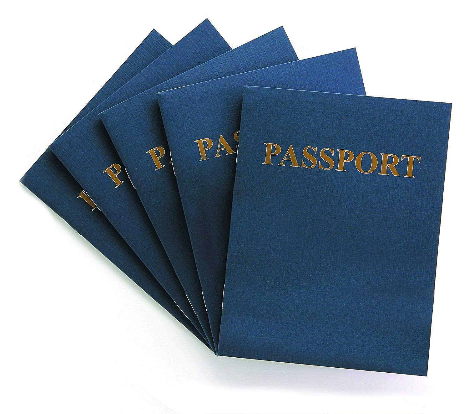 Hygloss Products Blank Passport Book - Fun Pretend Activity for Kids - Great for Classrooms & Parties - Imaginary Travel - Little Travelers Pocket Journal - 24 Blank Pages - 4 ¼'' X 5 ½'' - Pack of 24 Books by Hygloss