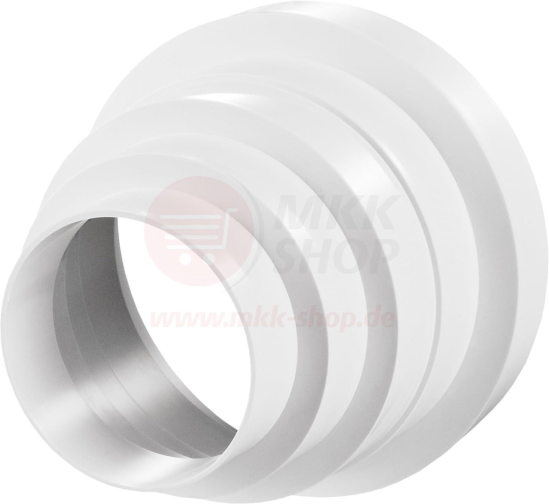 MKK-RKO - Conector de rosca reductor de transición termostatizada para tubo de ventilación universal, de 80, 100, 120, 125 y 150 mm de diámetro: Amazon.es: Bricolaje y herramientas