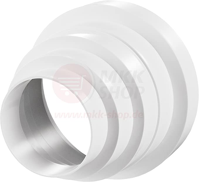 /150/mm /Ø 100/110/120/125/150/mm Riduttore Riduttore Riduzione passaggio tubo di ventilazione tubo tondo ventilazione ventilazione ventilatore canale universale RKO /Ø 100/
