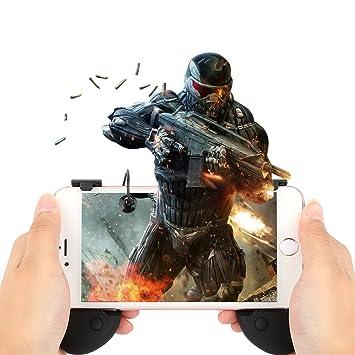 Agarre de juegos para teléfono móvil】 Disparador sensible y ...