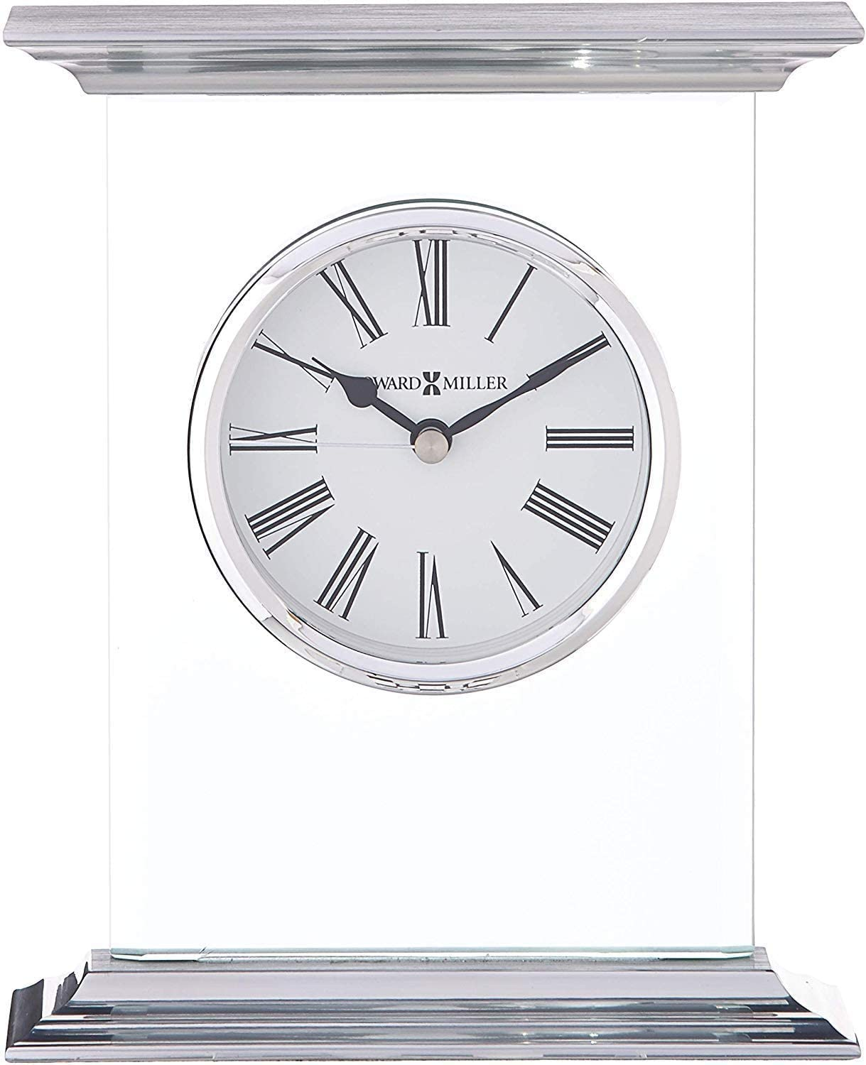 Howard Miller modern glass tabletop clock