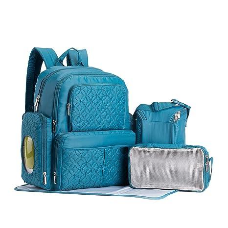 YuHan - Bolsa acolchada para llevar los pañales / cambiador de pañales, tejido Oxford,