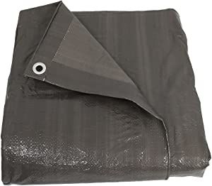 Sunnydaze 30 x 40 Waterproof Tarp - Heavy-Duty Multipurpose Outdoor Plastic Reversible Protective Cover - Laminated on Both Sides - Dark Gray