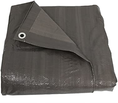 20/'x40/' Brown//Black Reversible Heavy Duty 8-9 Mil Waterproof Multi-Purpose Tarp