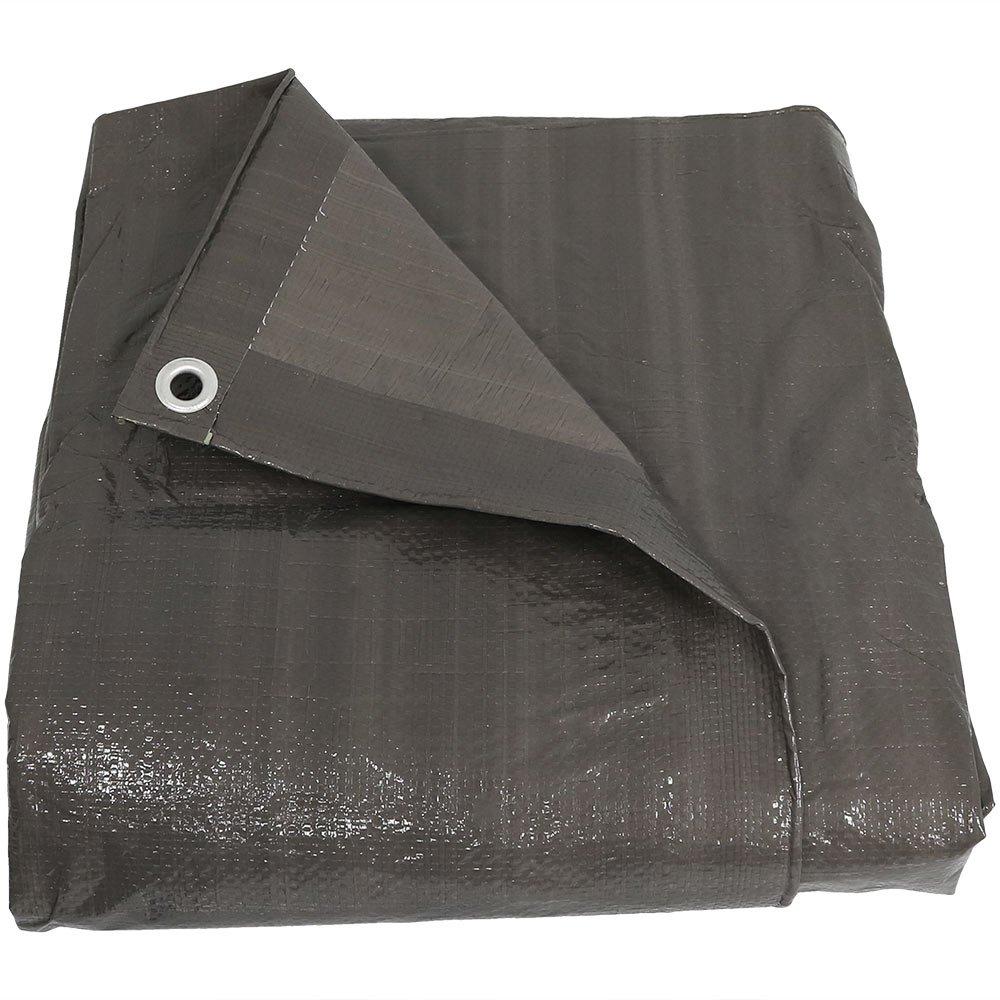 Sunnydaze 20 x 30 Waterproof Tarp - Heavy-Duty Multipurpose Outdoor Plastic Reversible Protective Cover - Laminated on Both Sides - Dark Gray