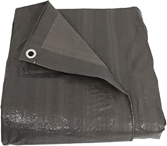 Mold and Mildew Resistant! Gray//White 12x16 16.5 MIL Super-Strong Poly Tarp Cover Water