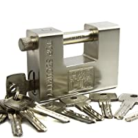 H&S® 10 Keys Super Heavy Duty Padlock Lock for Garage Warehouse Shipping Container