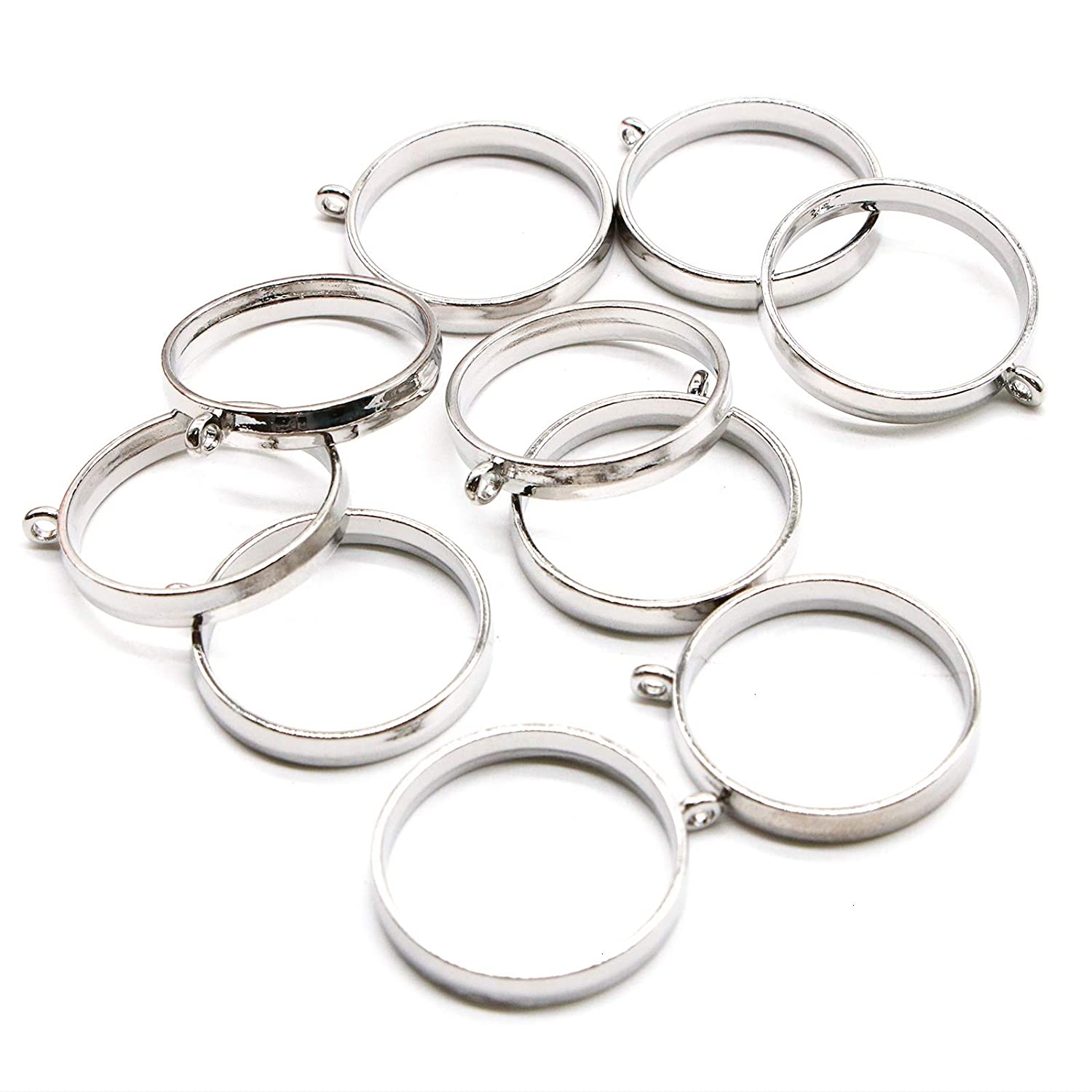 SS412 100pcs Sterling Silver Eye Pins 30mm Wire ~ 22GA or 0.6mm 1.2 inch For Jewelry Beading Craft Making