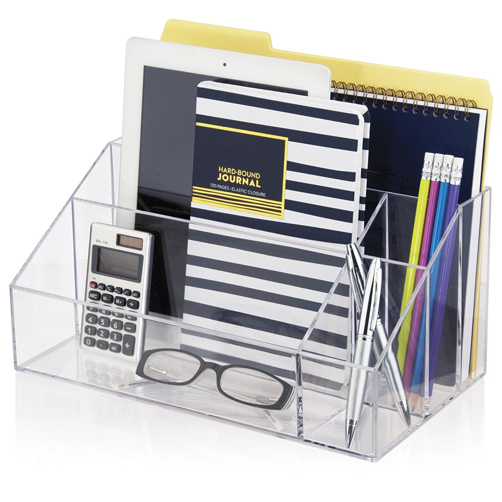 STORi Premium Quality Clear Plastic Craft and Desktop Organizer