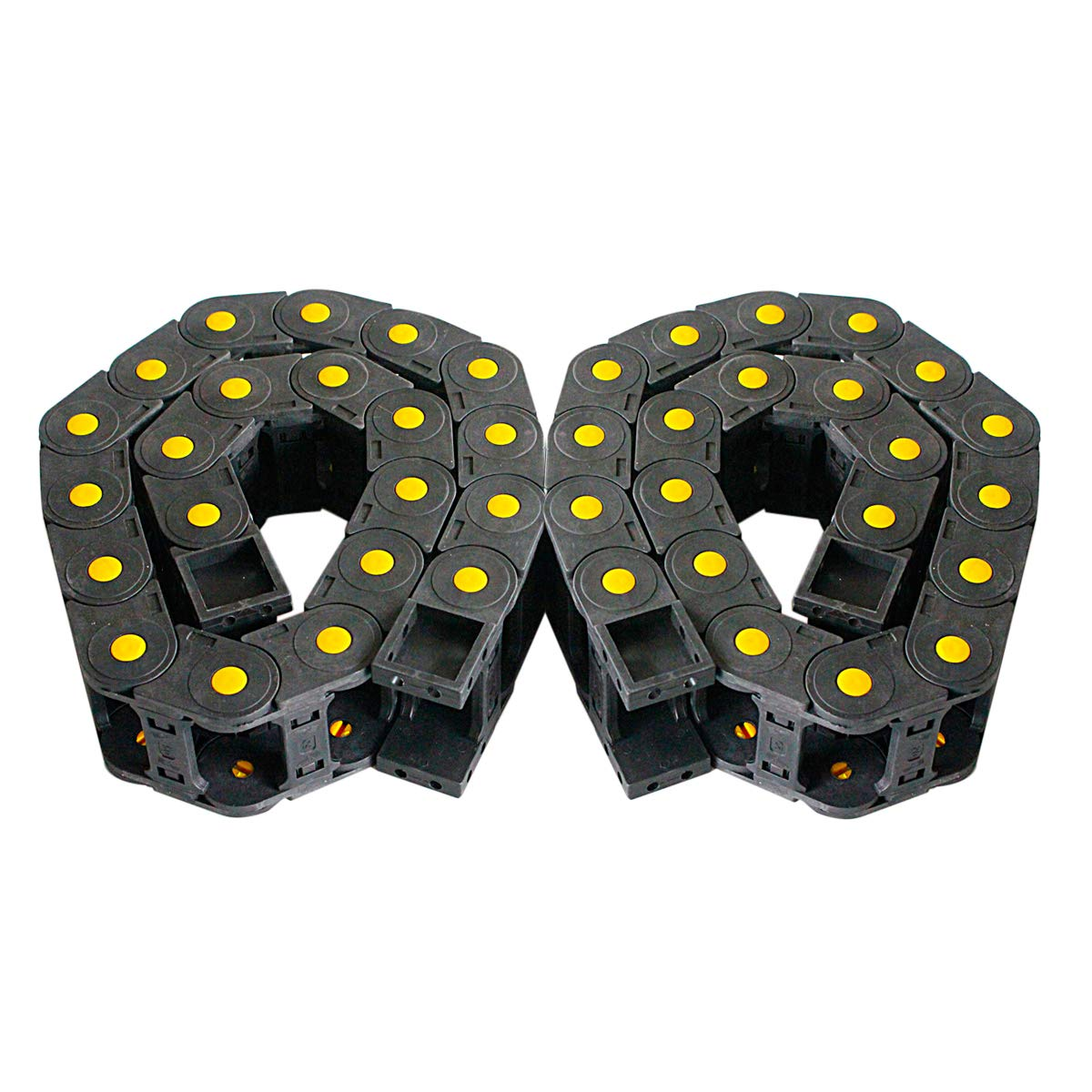 R55 25mm x 50mm Black Plastic Cable Drag Chain Wire Carrier 1M Length