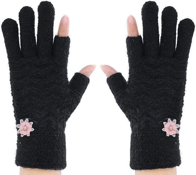 Nero termica guanti senza dita
